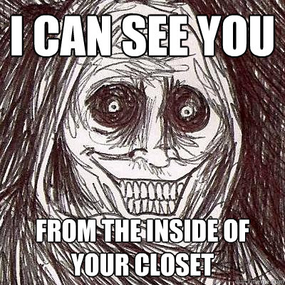 I Can see you from the inside of your closet  Creep