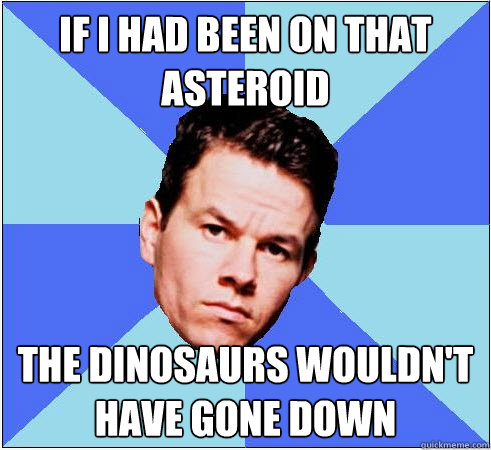 If I had been on that asteroid The dinosaurs wouldn't have gone down