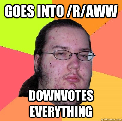 Goes into /r/aww downvotes everything - Goes into /r/aww downvotes everything  Butthurt Dweller