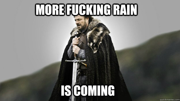MORE FUCKING RAIN IS COMING - MORE FUCKING RAIN IS COMING  Ned stark winter is coming
