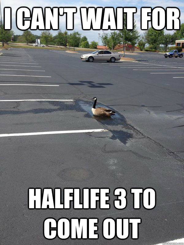 I can't wait for Halflife 3 to come out