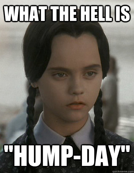 Wednesday Addams Meme Funny : What the hell is quot hump day wednesday addams quickmeme