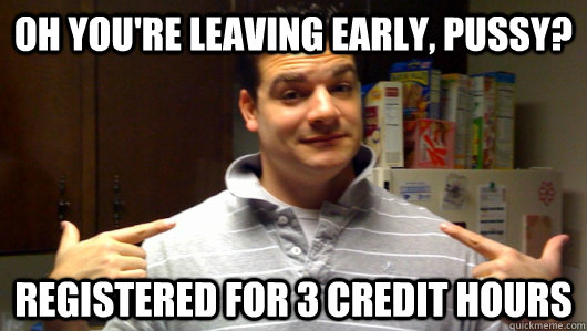 Registered For 3 Credit Hours 5th Year
