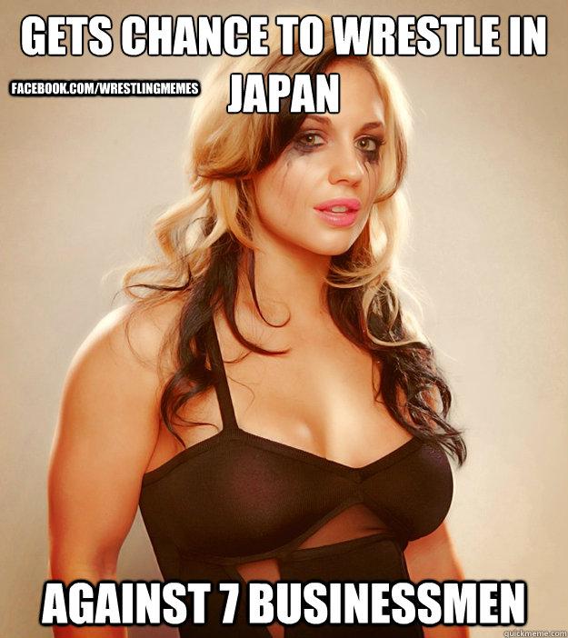 Gets Chance to wrestle in japan against 7 businessmen facebook.com/wrestlingmemes