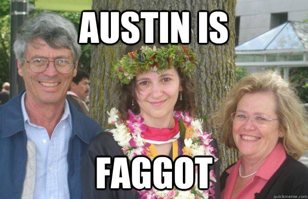 AUSTIN IS FAGGOT  Hipster Hawaiian