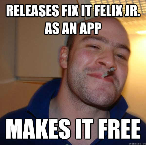 releases Fix it Felix Jr. as an app makes it free - releases Fix it Felix Jr. as an app makes it free  Misc
