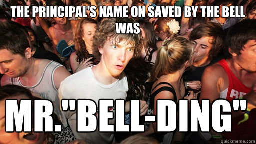 the principal's name on saved by the bell was mr.