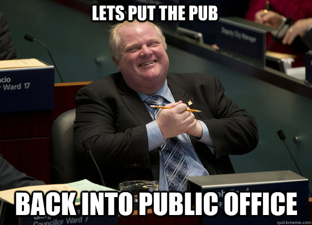 Lets put the pub back into public office