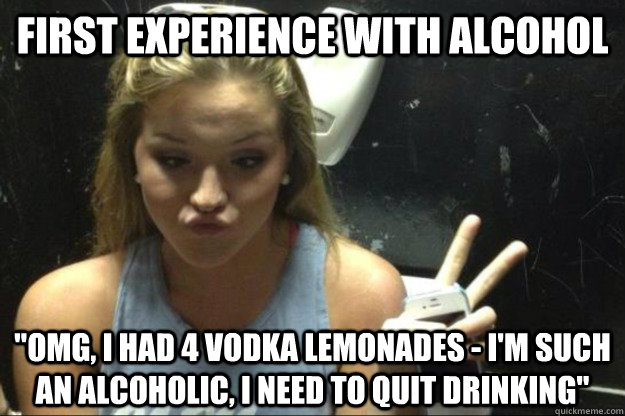 First experience with alcohol