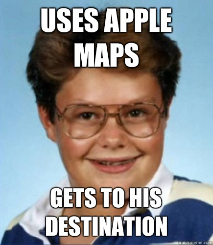 Uses apple maps Gets to his destination - Uses apple maps Gets to his destination  Lucky Larry