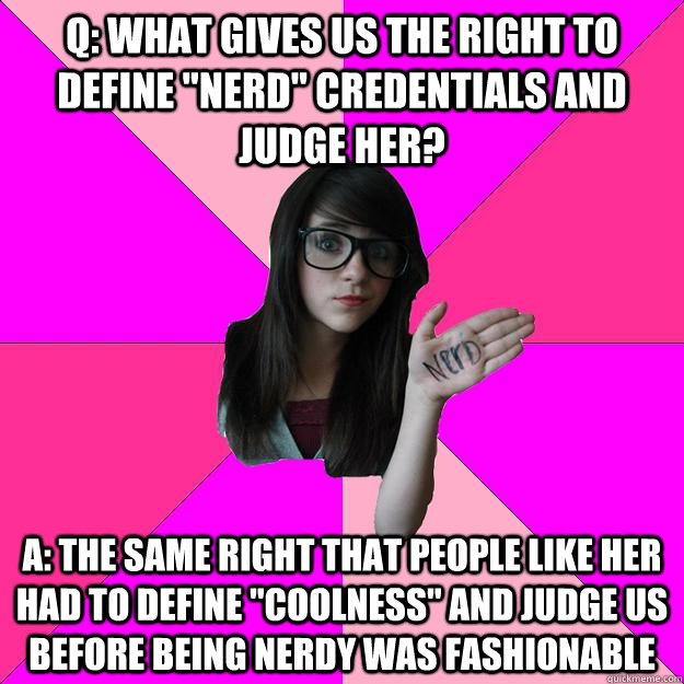 Q: what gives us the right to define