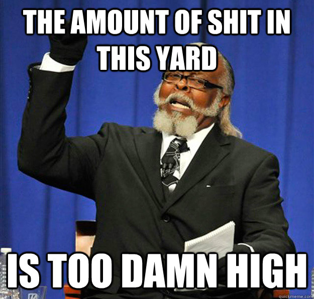 THE AMOUNT OF SHIT IN THIS YARD IS TOO DAMN HIGH - THE AMOUNT OF SHIT IN THIS YARD IS TOO DAMN HIGH  Jimmy McMillan