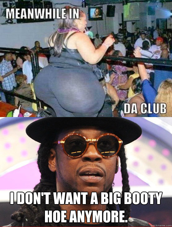 I Dont Want A Big Booty Hoe Anymore