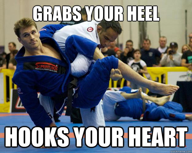 grabs your heel Hooks your heart - grabs your heel Hooks your heart  Ridiculously Photogenic Jiu Jitsu Guy