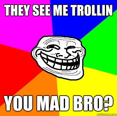 They see me Trollin you mad bro? - They see me Trollin you mad bro?  Troll Face