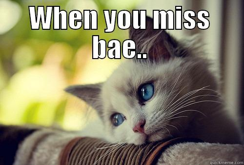 When you miss bae.. - WHEN YOU MISS BAE..  First World Problems Cat