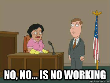 no, no... is no working