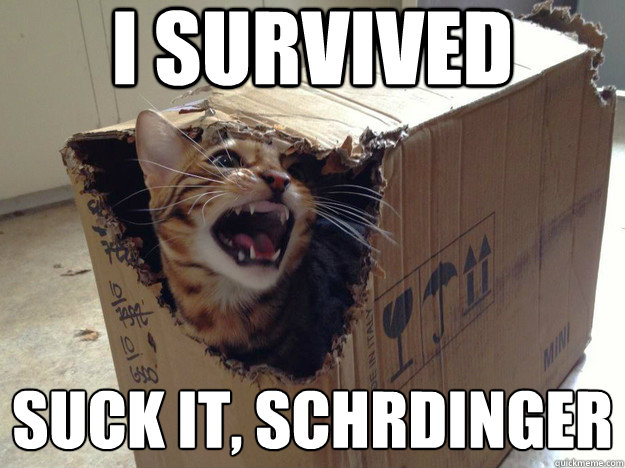 I survived suck it, Schrödinger