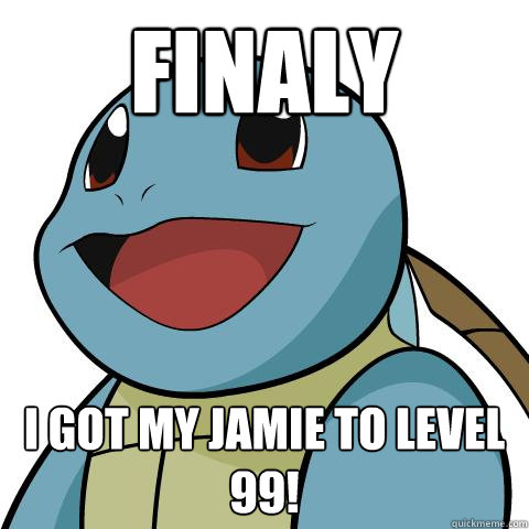 FINALY I GOT MY JAMIE TO LEVEL 99!  Squirtle
