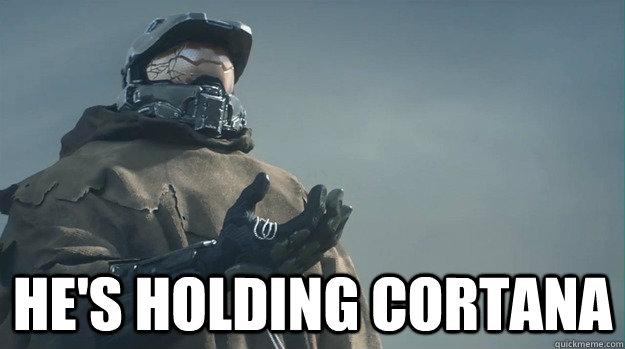 He's holding cortana -  He's holding cortana  halo5