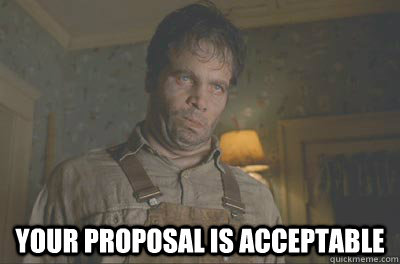 Your proposal is acceptable -  Your proposal is acceptable  Acceptable Edgar