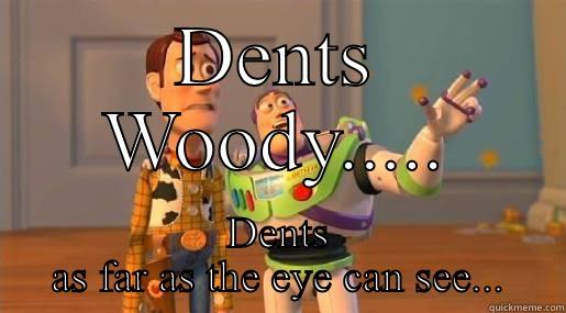 DENTS WOODY..... DENTS AS FAR AS THE EYE CAN SEE... Toy Story