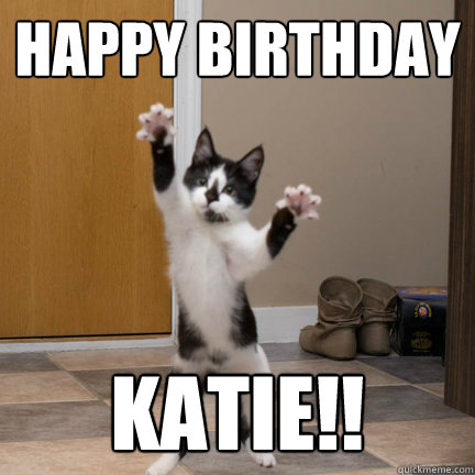 happy birthday katie meme Happy Birthday Katie!!   Dancing Kitten   quickmeme happy birthday katie meme