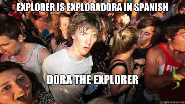 explorer is exploradora in spanish dora the explorer - explorer is exploradora in spanish dora the explorer  Sudden Clarity Clarence