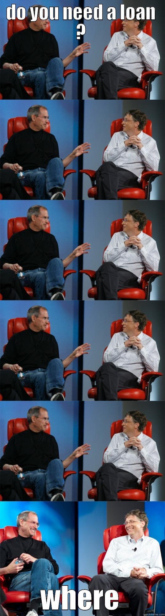 do you need a loan - DO YOU NEED A LOAN ? WHERE Steve Jobs vs Bill Gates