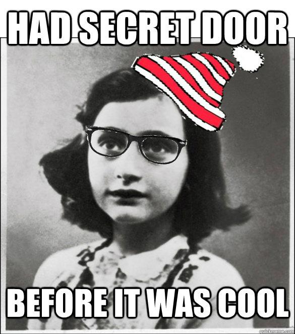 Had secret door Before it was cool
