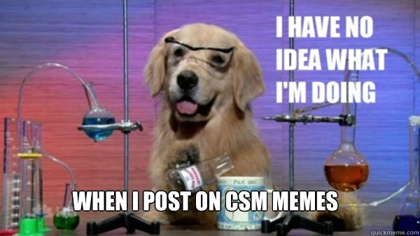 When I post on CSM memes