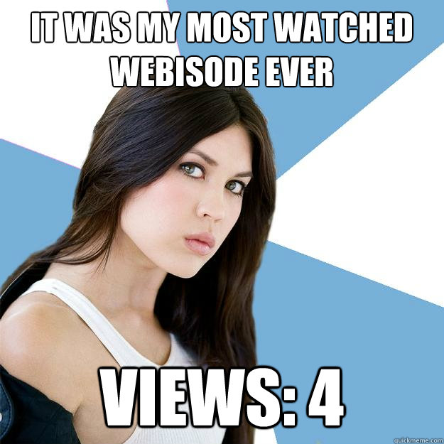 It was my most watched webisode ever Views: 4  Annoying IMDB Actress