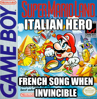 Italian hero French song when invincible  Video Game Logic