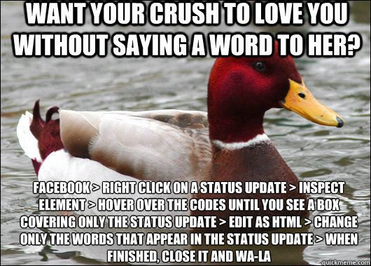 Funny Meme Without Words : Want your crush to love you without saying a word her