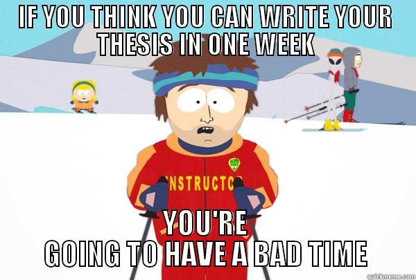 How to write a ba thesis