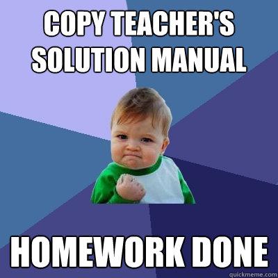 Homework solution manual