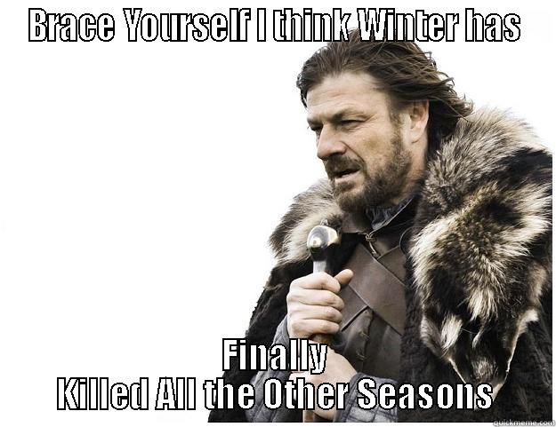 Brace Yourself - BRACE YOURSELF I THINK WINTER HAS FINALLY KILLED ALL THE OTHER SEASONS Imminent Ned