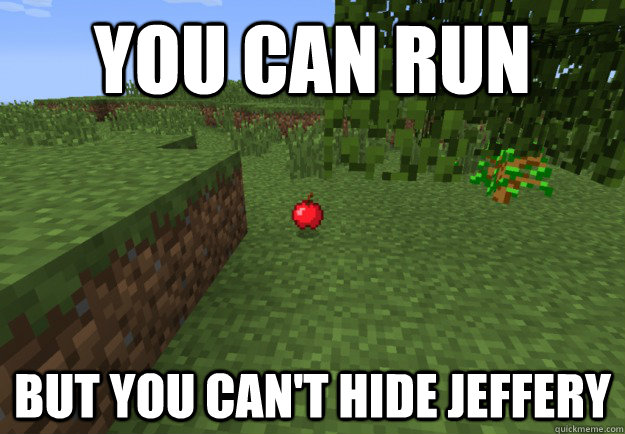 You can run but you can't hide Jeffery - You can run but you can't hide Jeffery  MaximusBlack IWBTG Apple