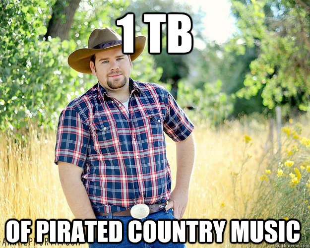 1 TB Of pirated Country music