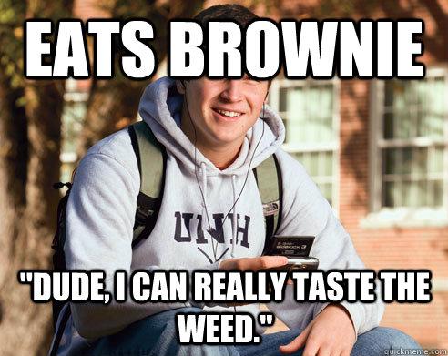 eats brownie