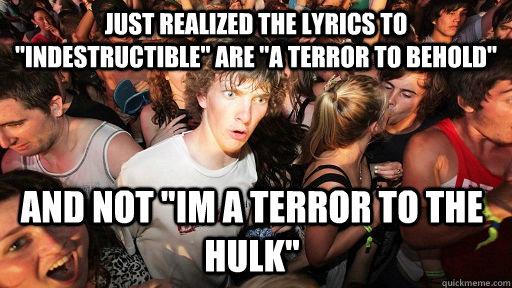 Just realized the lyrics to