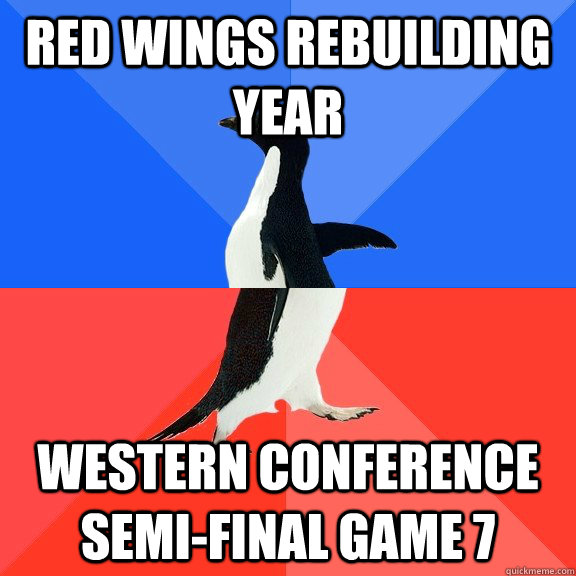 Red Wings Rebuilding year western conference semi-final game 7 - Red Wings Rebuilding year western conference semi-final game 7  Socially Awkward Awesome Penguin
