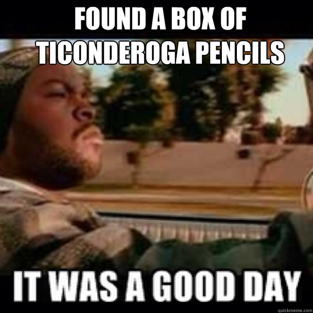 found a box of Ticonderoga pencils