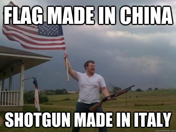 Patriotic Meme flag made in ch...