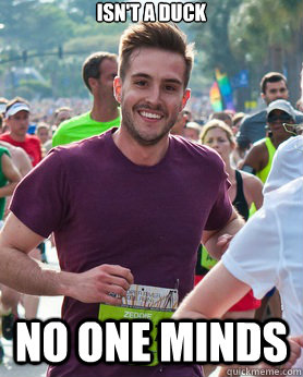 Isn't a Duck No one minds - Isn't a Duck No one minds  Ridiculously photogenic guy