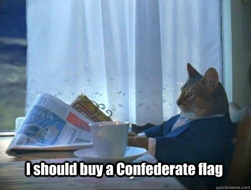 I should buy a Confederate flag - I should buy a Confederate flag  Fancy Cat