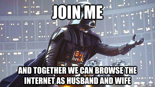 Join me and together we can browse the internet as husband and wife - Join me and together we can browse the internet as husband and wife  Misc