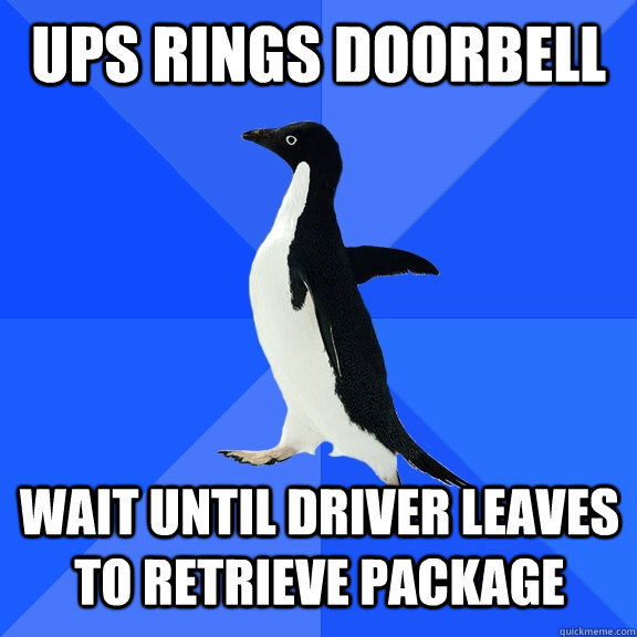 UPs rings doorbell wait until driver leaves to retrieve ...