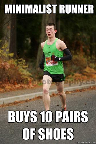 Minimalist Runner Buys 10 pairs of shoes