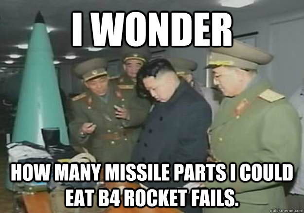 I wonder how many missile parts i could eat b4 rocket fails.